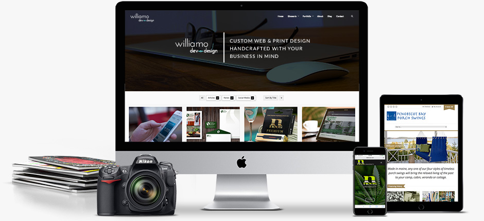 Williamo Dev and Design / Maine Web & Print Design